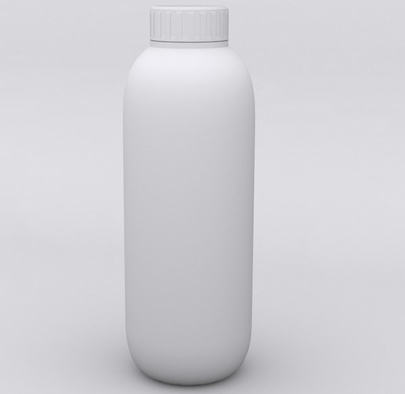 Molded Plastic Bottle