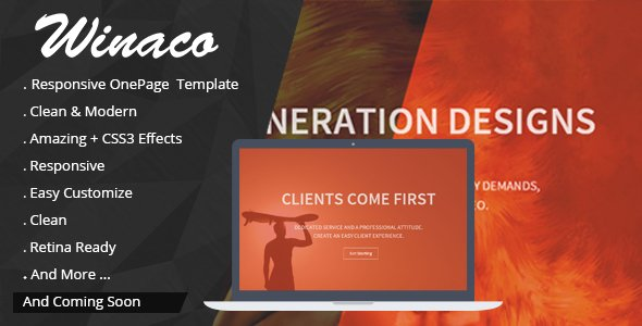 Winaco - Responsive One Page Template