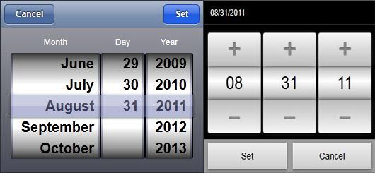 MOBISCROLL Date picker