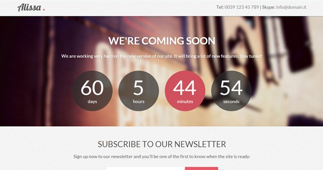 Alissa - Coming Soon WordPress Theme
