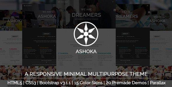 Ashoka - Responsive Minimal Multipurpose HTML Theme