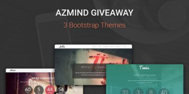 AZMIND Giveaway: 2 WordPress Themes + 1 HTML5 Template, all made with Bootstrap!
