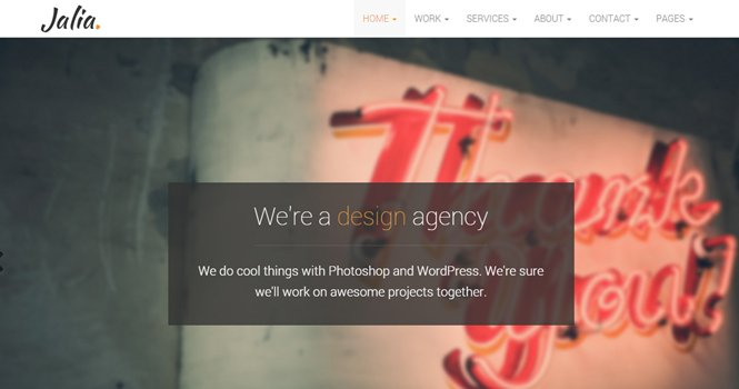 Jalia - Bootstrap Business Template