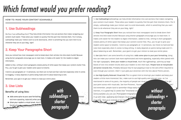 Make it readable