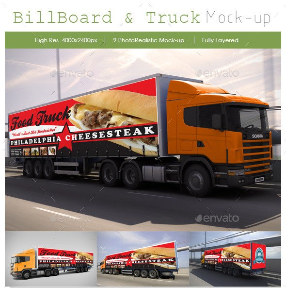 Billboard and Truck Mock-Up