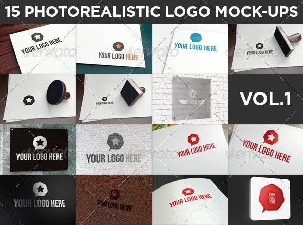 15 Realistic Logo Mock-Ups Vol.1