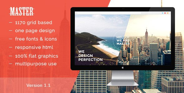 Master - One Page HTML 5 Portfolio Template