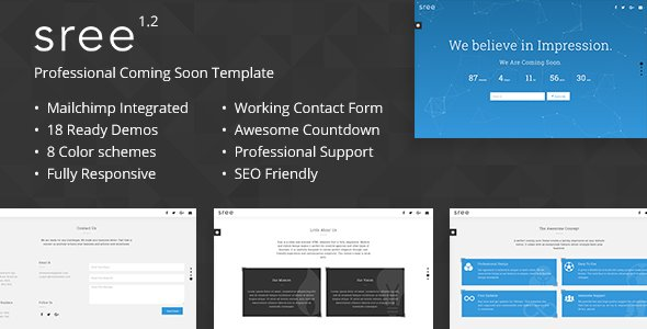 Sree - Responsive Coming Soon Template