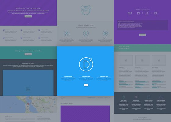 Divi 3 Ships With 20+ Layouts Templates
