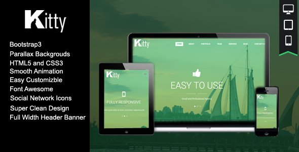Kitty One Page HTML Template