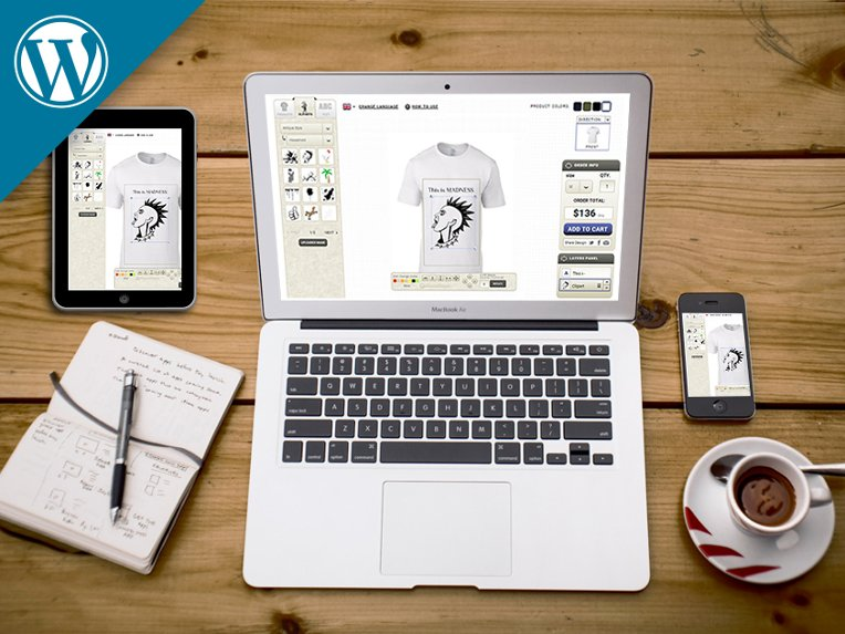 InkyRobo T-shirt Design Software WordPress Plugin