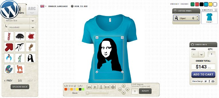 T shirt designer wordpress plugin a must have for online for Custom t shirt software