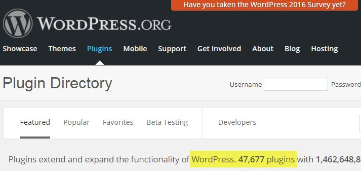 WordPress needs plugins