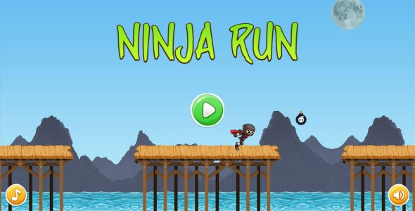 Ninja Run - HTML5 Mobile Game