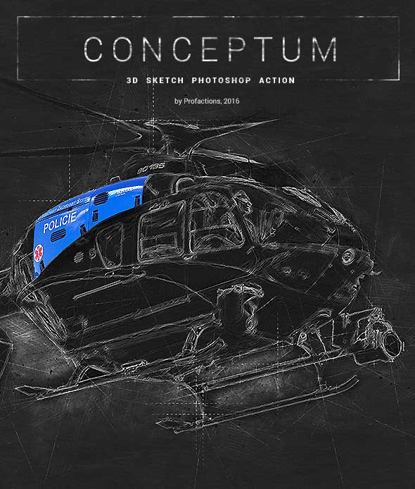 Conceptum - 3D Sketch Photoshop Action