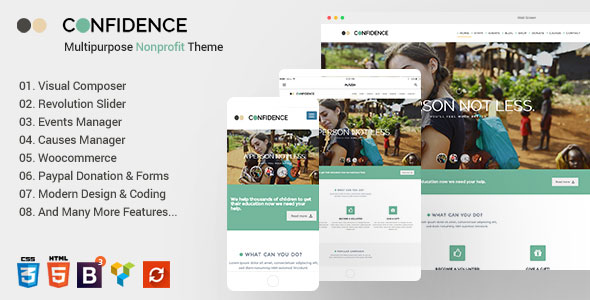 Confidence - Multipurpose Nonprofit WordPress Theme