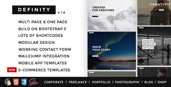 Definity - Multipurpose One/ Multi Page Template