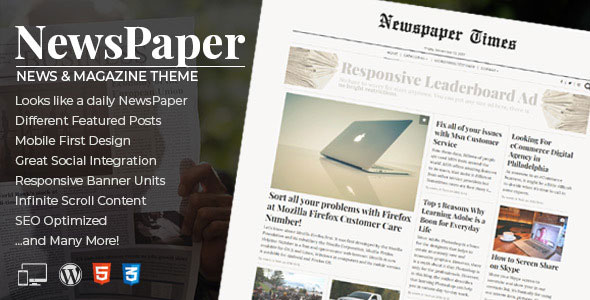 NewsPaper - News & Magazine WordPress Theme