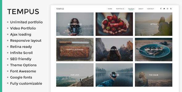 Tempus - Photography WordPress Theme