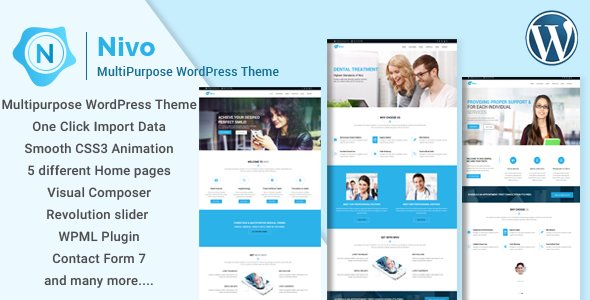 Nivo - Responsive Creative MultiPurpose WordPress Theme