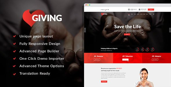 Giving - NGO/Charity/Fundraising WordPress Theme