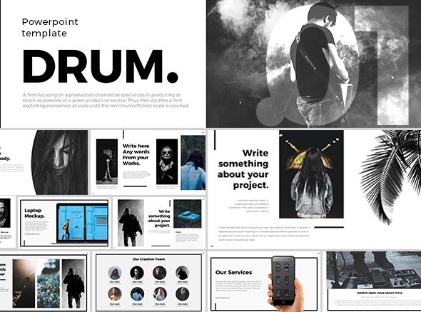 Drum Powerpoint Template