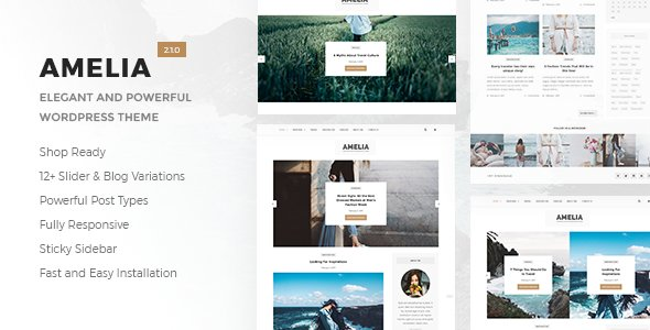 Amelia - Clean Blog and Magazine WordPress Theme