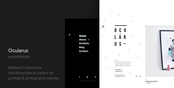 Ocularus - Minimal Photography WordPress Theme