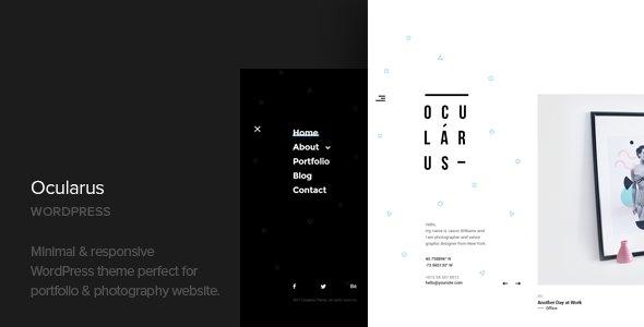 Ocularus - Minimal Photography WordPress Theme