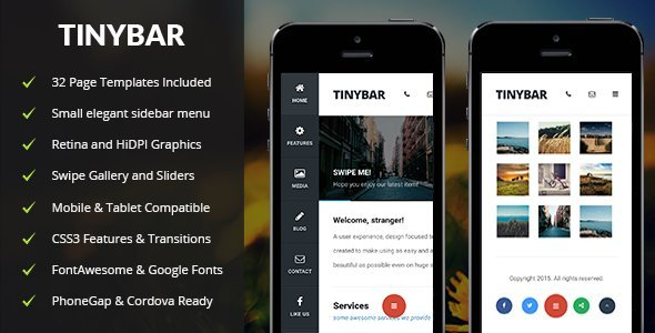 Tinybar Mobile Template