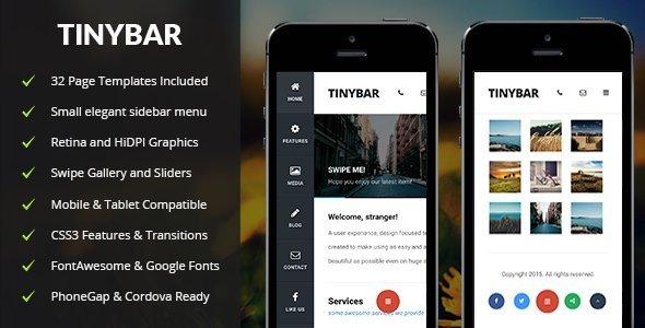 Tinybar Mobile Template