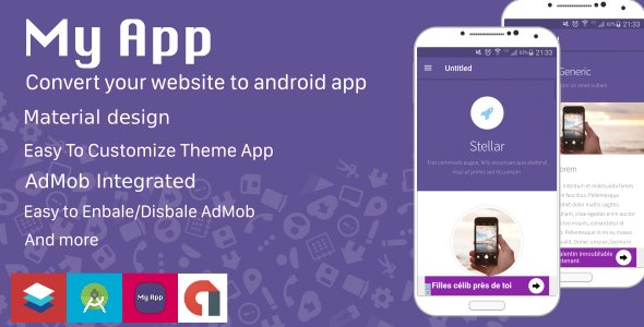 Website to Android App - Material Design