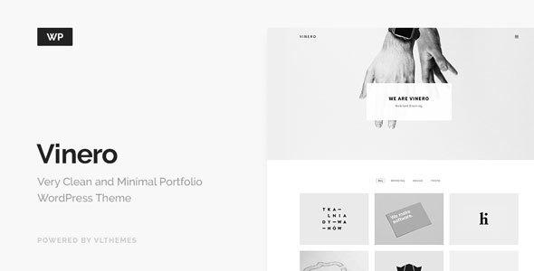 Vinero - Very Clean and Minimal Portfolio