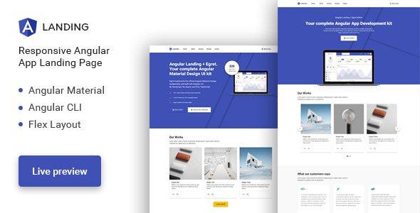 Angular Landing - Material Design Angular App Landing Page
