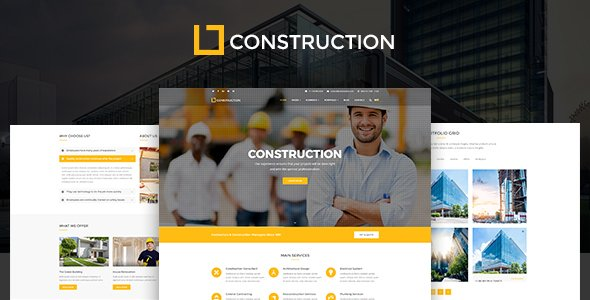Construction - Business & Building Company WordPress Theme