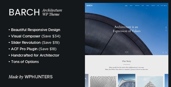 Barch - Architecture Portfolio WordPress Theme