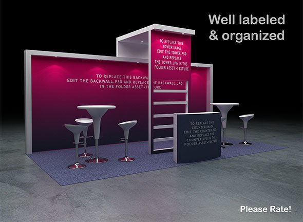 Exhibition Booth - Perimeter 3x6