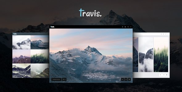 Travis Photo HTML for Photo Site