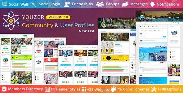 Youzer - Buddypress Community & bbPress Forums