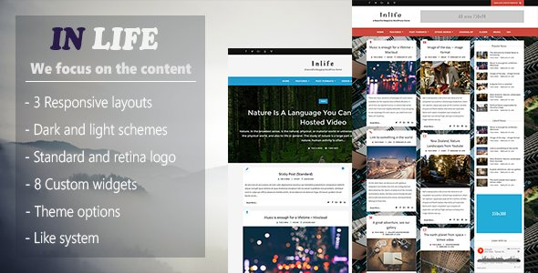 InLife - Simple & Flexible Blog / Magazine