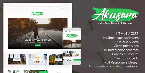 Akusara - Multipurpose Blog Theme