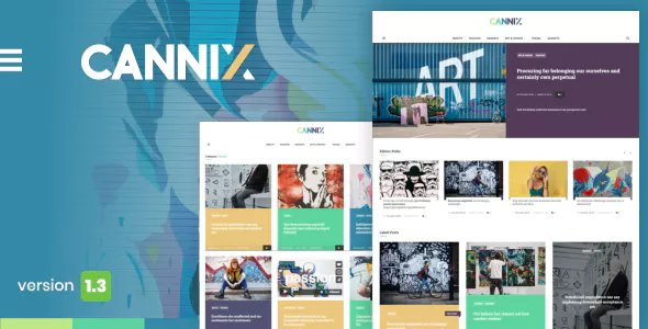 Cannix - A Vibrant WordPress Theme for Creative Bloggers
