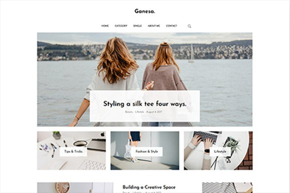 Ganesa - Minimal WordPress Personal Blog Theme
