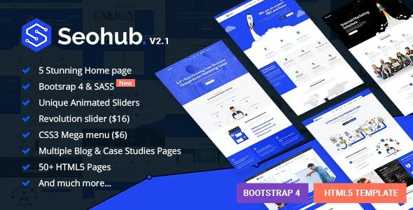 SEOhub - SEO, Marketing, Social Media, Multipurpose HTML5 Template