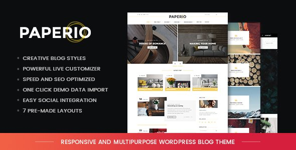 Paperio - Responsive and Multipurpose WordPress Blog Theme