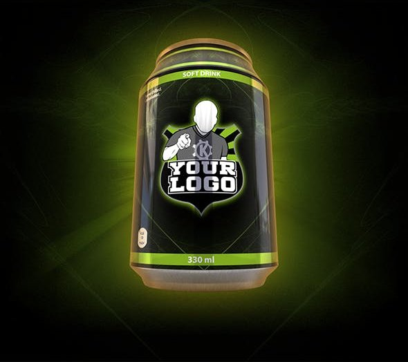 Small soda / energy drink can