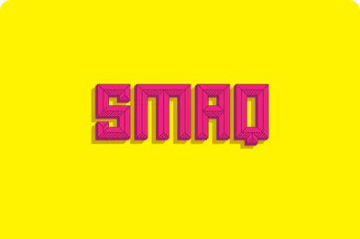 Smaq Decorative Typeface ideal for posters