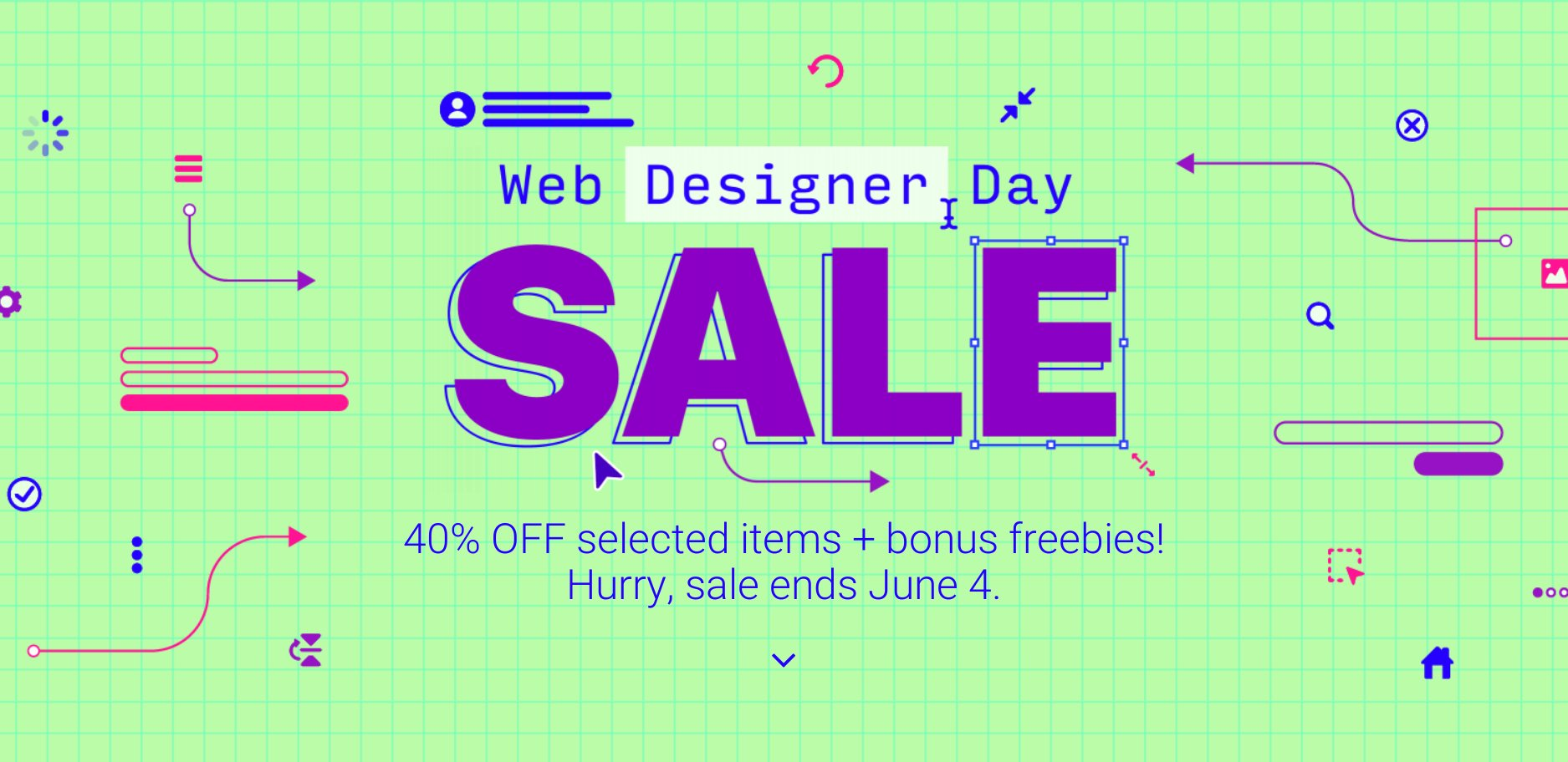 Envato Web Designer Day SALE 40% Plus 10 Freebies