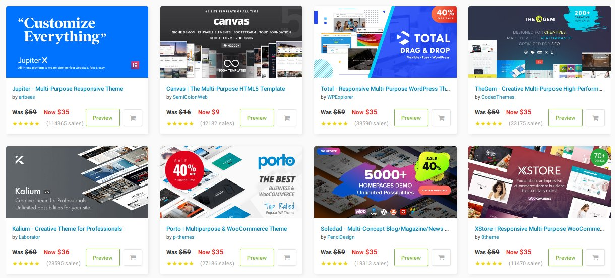 40% OFF WordPress Themes and HTML Templates