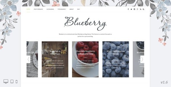 Blueberry - A Responsive WordPress Blog Theme